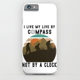 Cool hiking outfit for mountaineering outdoor fans iPhone Case