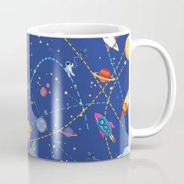 Space Rocket Pattern Coffee Mug