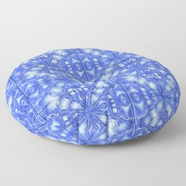 Mosaic Blue and White Pattern  Floor Pillow