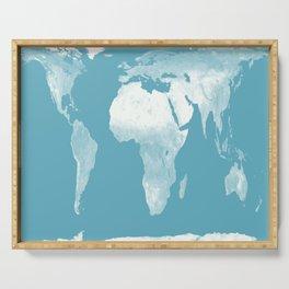 World Map Riverside Blue Serving Tray