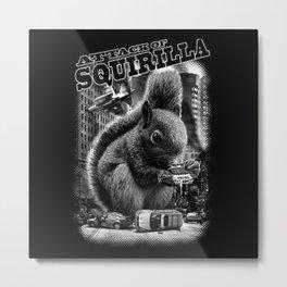 attack-of-squirilla tshirt Metal Print
