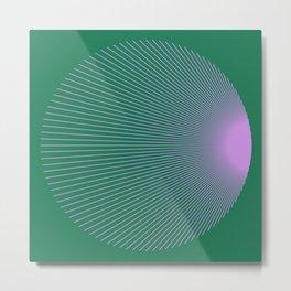 Purple n Green Lines 001 Metal Print