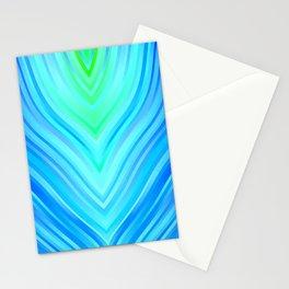 stripes wave pattern 3 s180i Stationery Cards