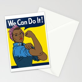 Black Rosie the Riveter Stationery Cards