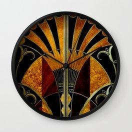 art deco wood Wall Clock