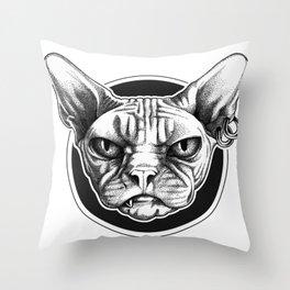 Pitbull Hand Painted Throw Pillow