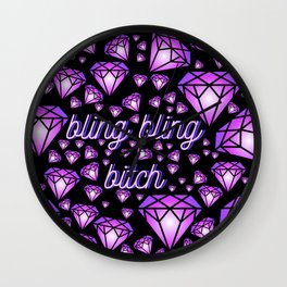 bling bling. Wall Clock