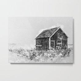 Lofoten Hut Norway Metal Print