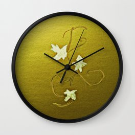 Leaves Of Grapes Wall Clock