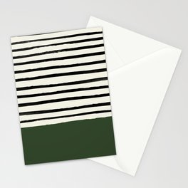 Forest Green x Stripes Stationery Cards
