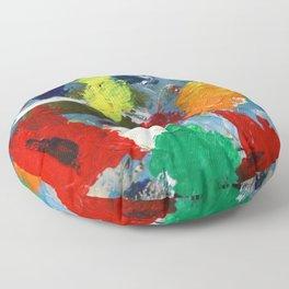 The Artist's Palette Floor Pillow