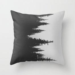 Sideways Forest Throw Pillow