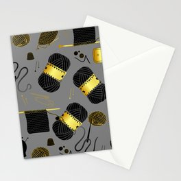Gold and Black yarn Stationery Cards