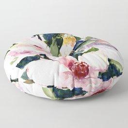 Hummingbird and Magnolia Flowers Floor Pillow
