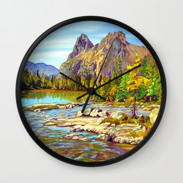 Lake O'Hara Holiday by Amanda Martinson Wall Clock