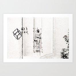 Belgrade / Facade 01 Art Print