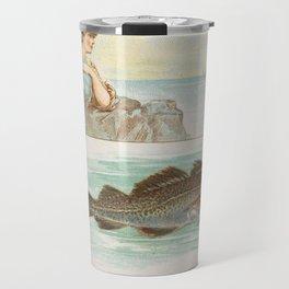Vintage Atlantic Cod Fish Illustration (1889) Travel Mug