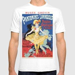 Vintage film history ad Jules Cheret T-shirt