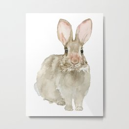 Cottontail Bunny Rabbit Watercolor Metal Print