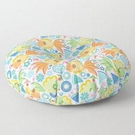Tropical Fruit Fish! Floor Pillow