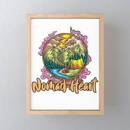 Nomad Heart Wanderlust Hiking Framed Mini Art Print