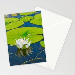 Water Lily and Lily Pads Stationery Cards