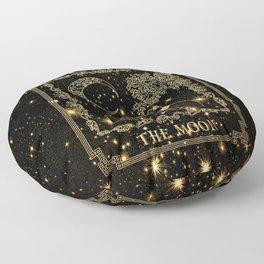 "Tarot ""The moon"" - gold - cat version Floor Pillow"