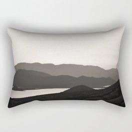 Mountains and a lake Rectangular Pillow