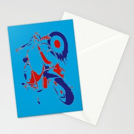 Mods Bike Pop Style Collage Stationery Cards