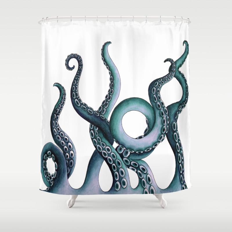 Kraken shower curtain - Kraken Shower Curtain 30