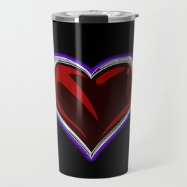 """Sacred"" Heart Emblem Black Metal Tumbler Travel Mug"