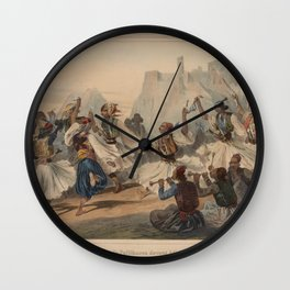 Leblanc Theodore  Danse de Pallikares devant Athenes Wall Clock