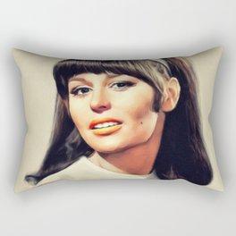 Marianna Hill, Vintage Actress Rectangular Pillow