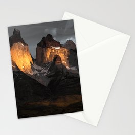 Patagonia mountains Stationery Cards