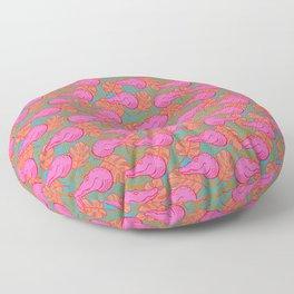 Hot Pink Tropical Alligators Floor Pillow