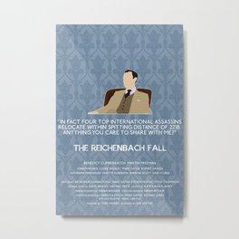 The Reichenbach Fall - Mycroft Holmes Metal Print