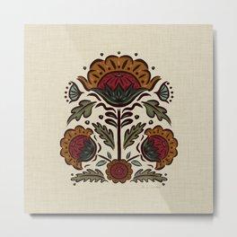 Spanish Blooms - linen-neutral-color Metal Print