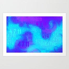 The breathing method Art Print