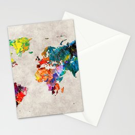 World Map 48 Stationery Cards
