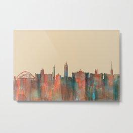 Newcastle, England Skyline - Navaho Metal Print