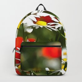 In A Field of Poppies Be A Daisy Backpack
