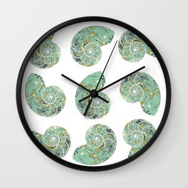 Marbled Chambers of the Nautilus Wall Clock