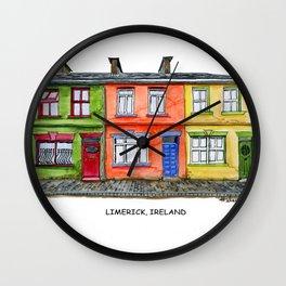 LIMERICK IRELAND ROW HOUSE TOWNHOUSE Wall Clock