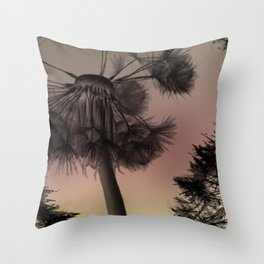 Dandelion at Dusk Throw Pillow