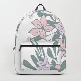 Wild pink floral Backpack