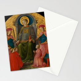 "Fra Filippo Lippi ""Saint Lawrence Enthroned with Saints and Donors"" Stationery Cards"