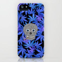 Grey Skull Weed iPhone Case