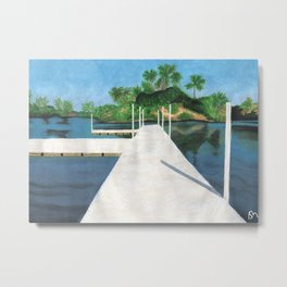 Muelle Barrillas Metal Print
