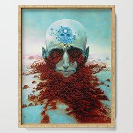Untitled (Decomposition) by Zdzisław Beksiński Serving Tray