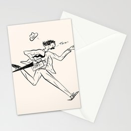 Man with a Moustache Hails Taxi Stationery Cards